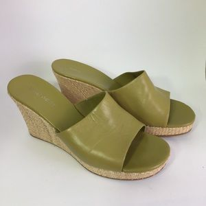 Nine West Green Wedge Slip On Shoes